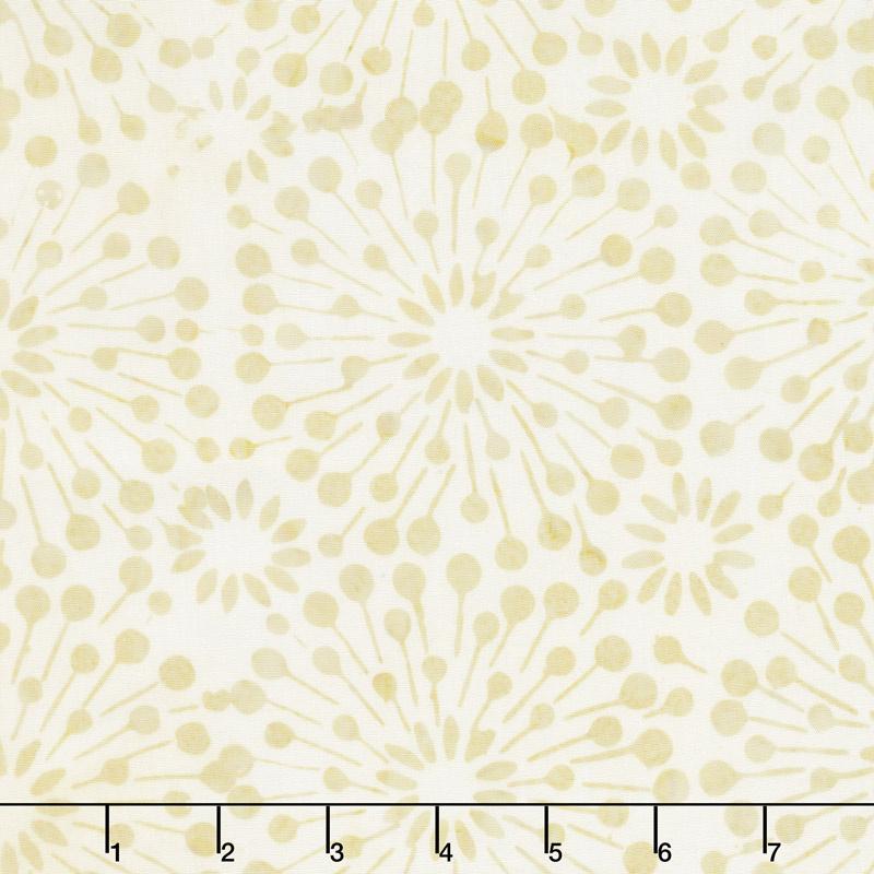 Cream of the Crop Batiks - Dandelion Burst Light Tan Yardage