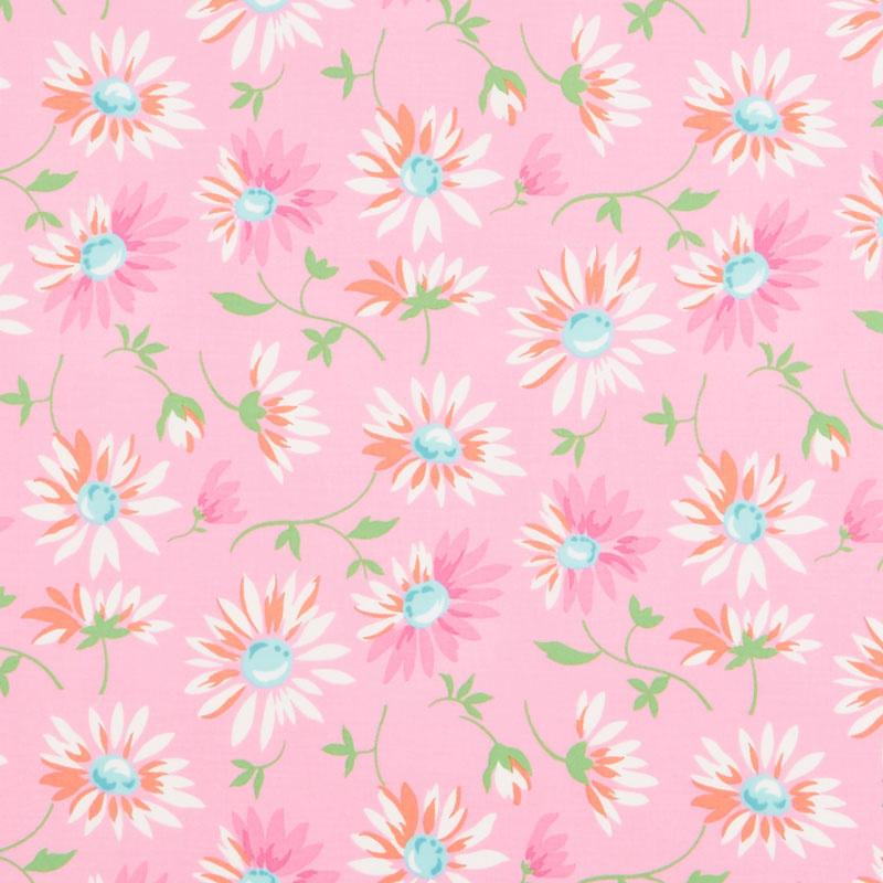 Good Day! - Lazy Daisies Pink Yardage