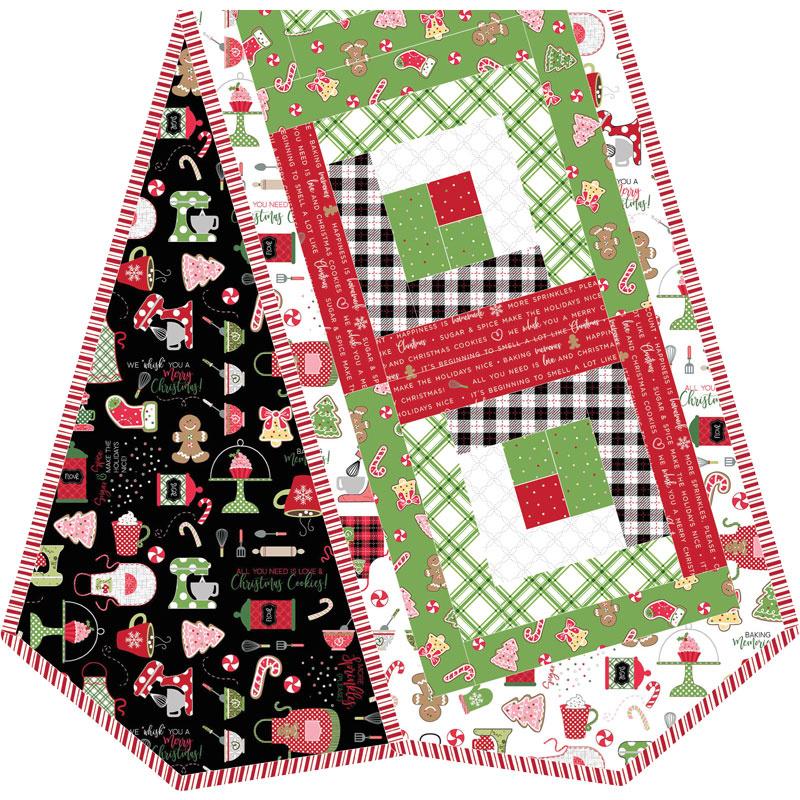 We Whisk You a Merry Christmas! Log Cabin Table Runner POD Kit