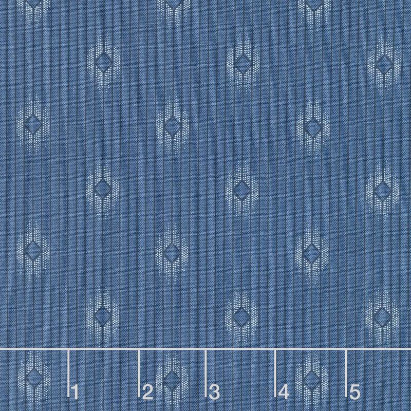 Crystal Lake - Diamond Stripes Light Blue Yardage