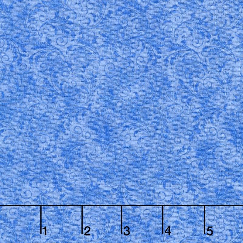 Echo - Tonal Filigree Blue Yardage