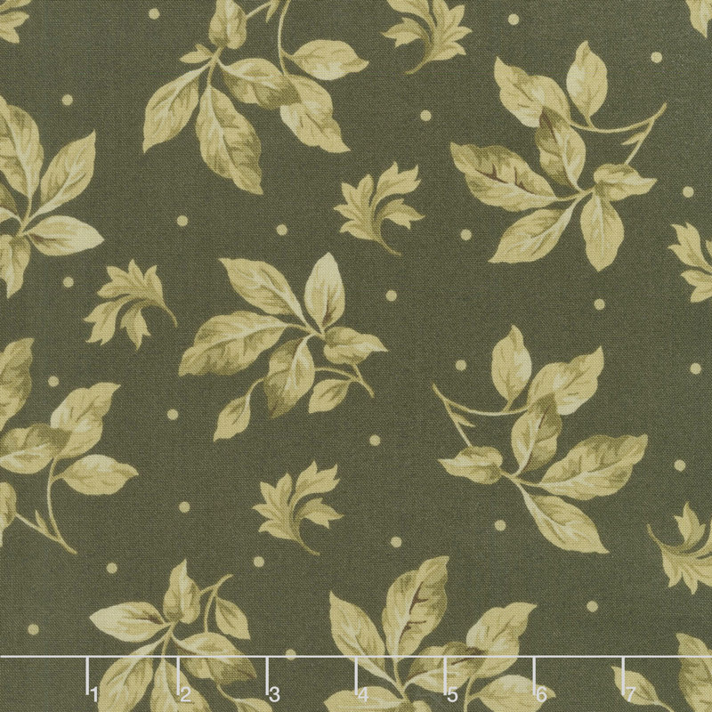 English Countryside - Spaced Leaves Green Yardage