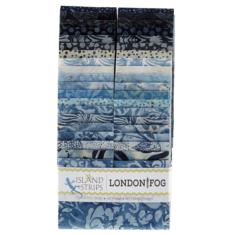 London Fog Batiks Strips