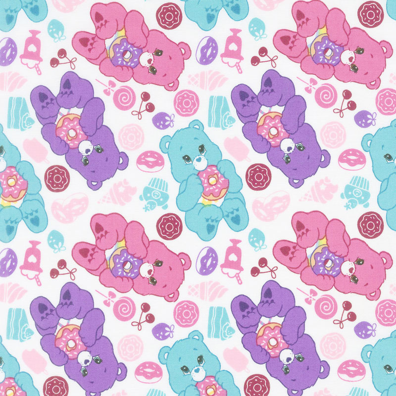 Care Bears - Sparkle & Shine Sweets in White Yardage