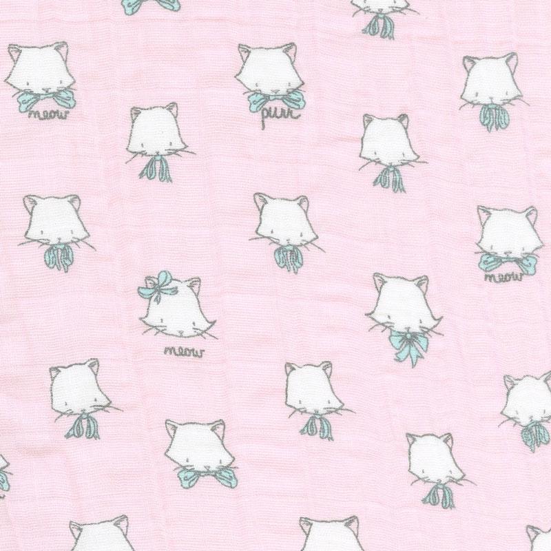 Embrace - Double Gauze Cat Nap Pink Yardage