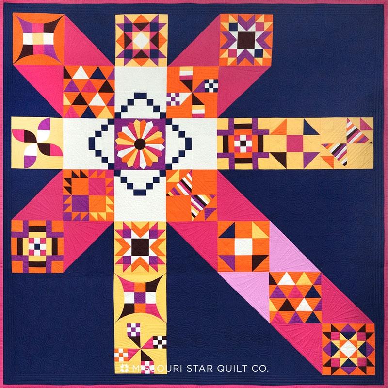 Moccasin Indigo Quilt Kit