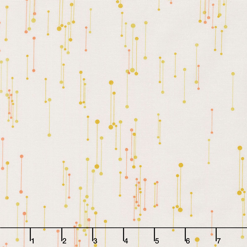 Modern Backgrounds Colorbox - Connected Dots Fog Maize Yardage