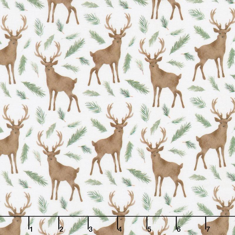 Winter Woods - Oh Deer in White Yardage