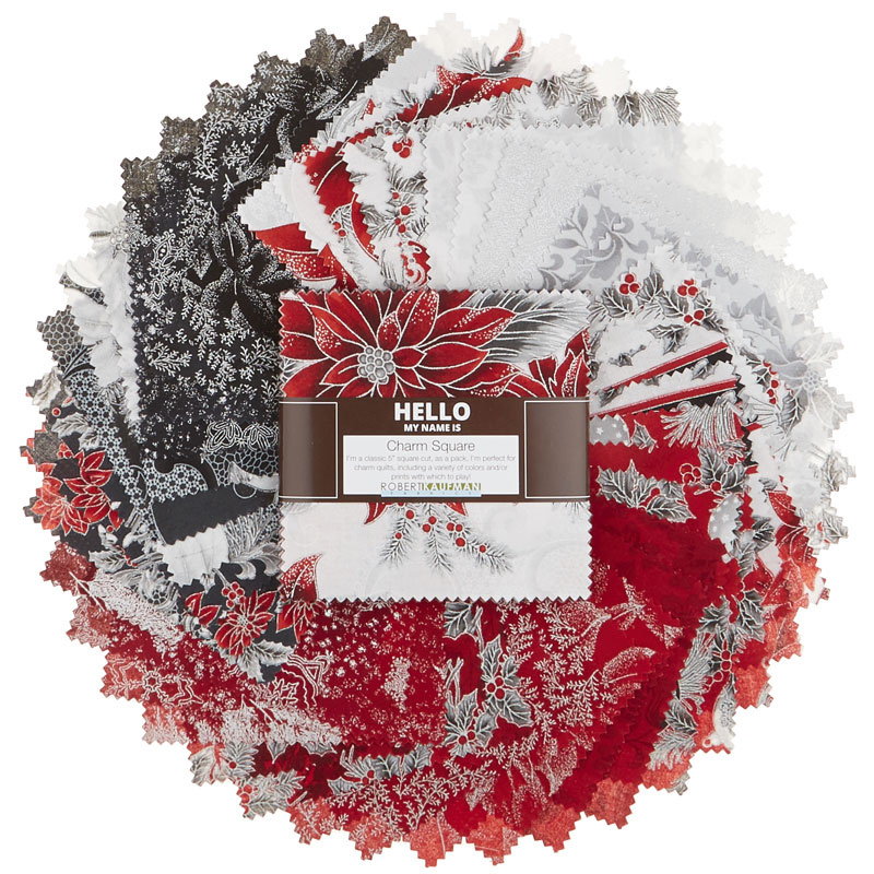Holiday Flourish 12 Scarlet Metallic Charm Pack