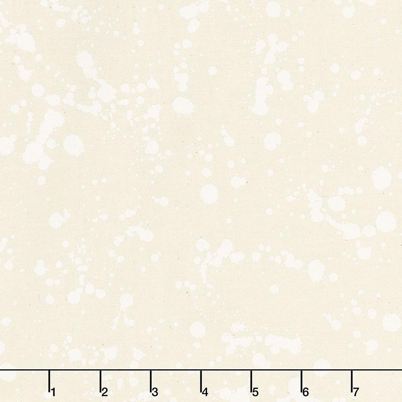Natural Blooms - Splatter Snow Yardage
