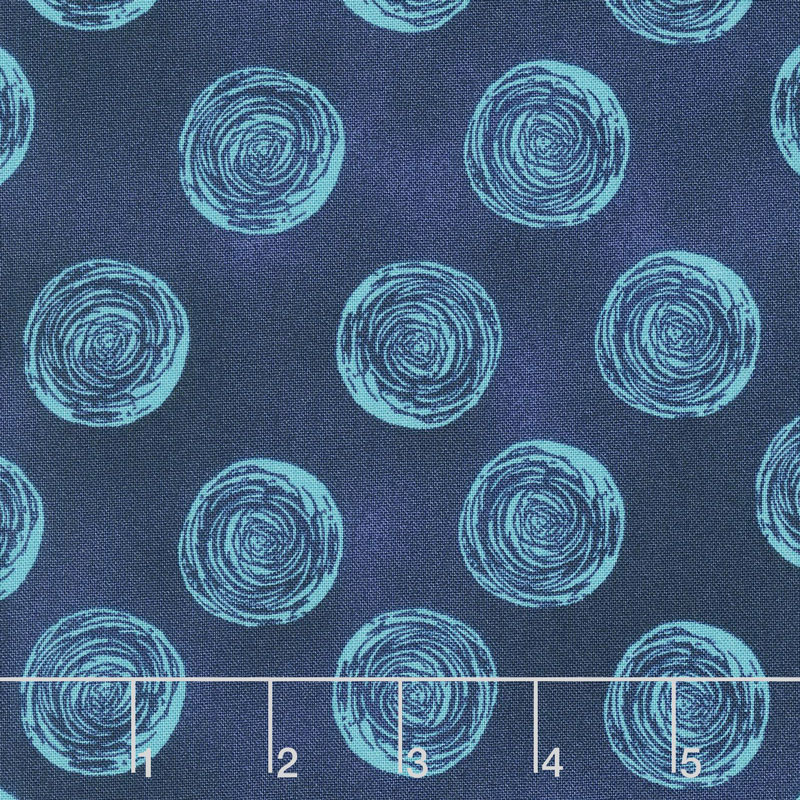 Makers Home - Ranunculus Navy Yardage