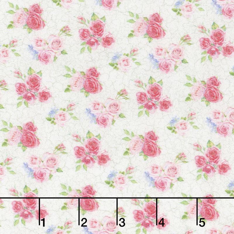 Bunny Love - Mini Flower Bouquet Cream Yardage