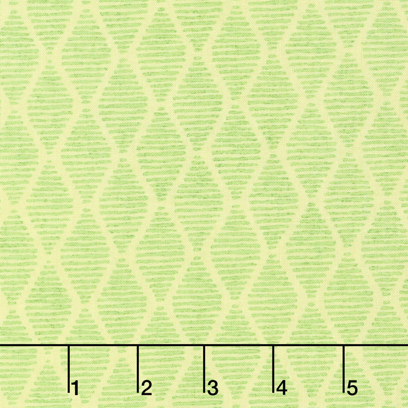 Fruitful Pleasures - Diamonds Green Yardage