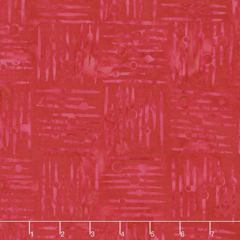 Cherry Sweet Batiks - Crosshatch Red Yardage