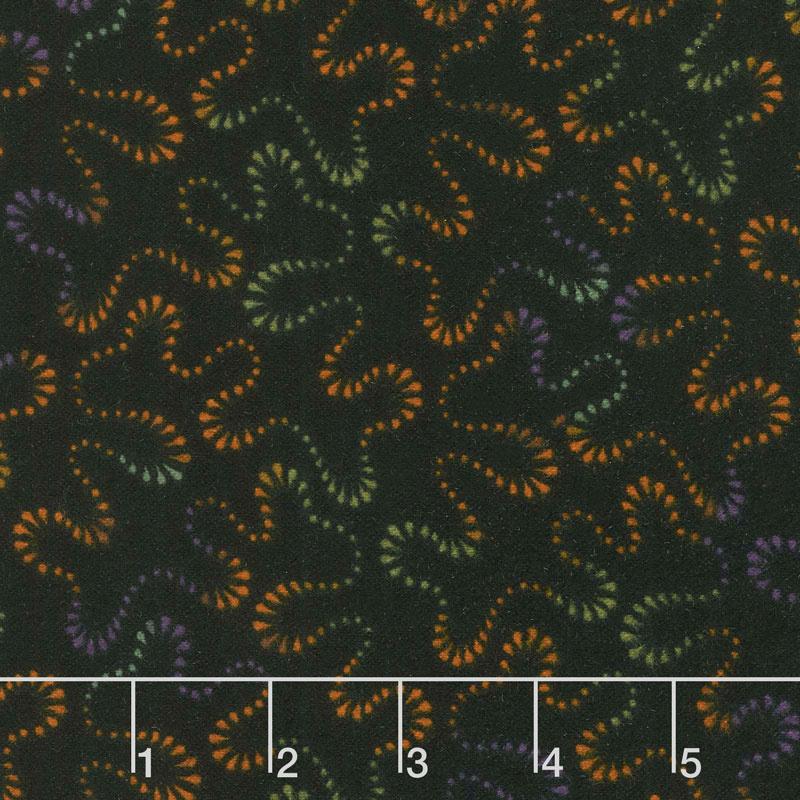 Happy Jacks & Friends - Stippling Black Flannel Yardage