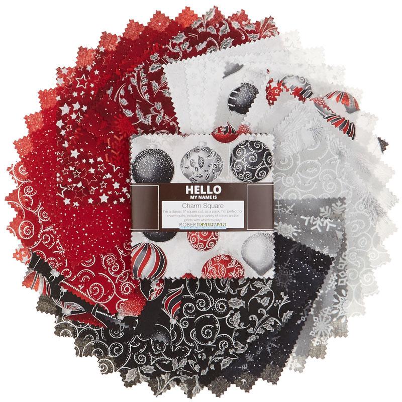 Winter's Grandeur 7 Scarlet Metallic Charm Pack