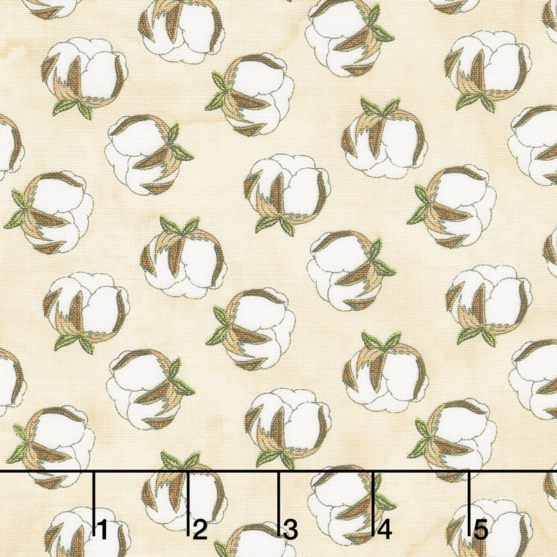 Love 4 Cotton - Mini Cotton Balls Ivory Yardage