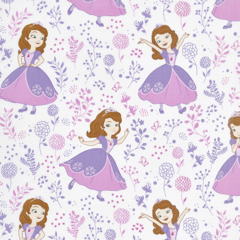 Sofia the First - Meadow White Yardage