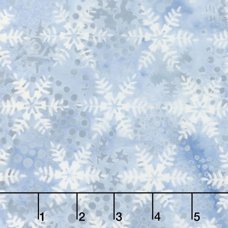 Icicle Batiks - Snowflake French Blue Yardage