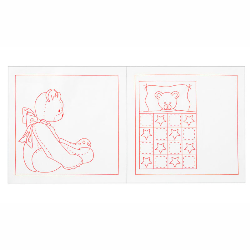 Bears! Bears! Redwork Embroidery Quilt Labels Kit