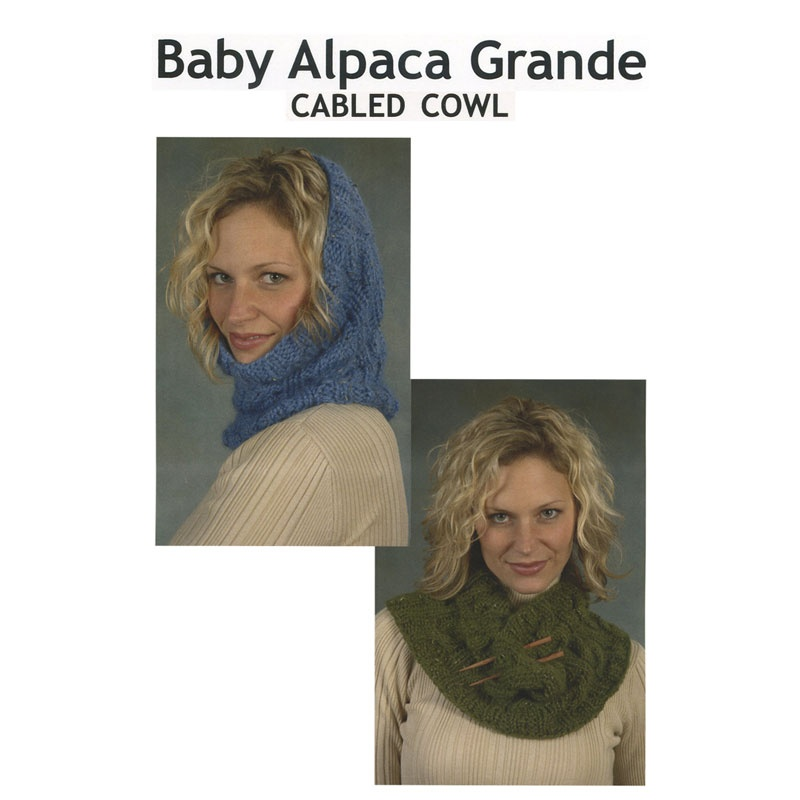 Baby Alpaca Grande Cabled Cowl Pattern