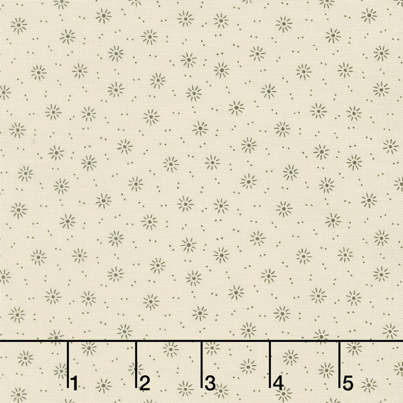 Jo's Shirtings - Starburst Parchment Charcoal Yardage