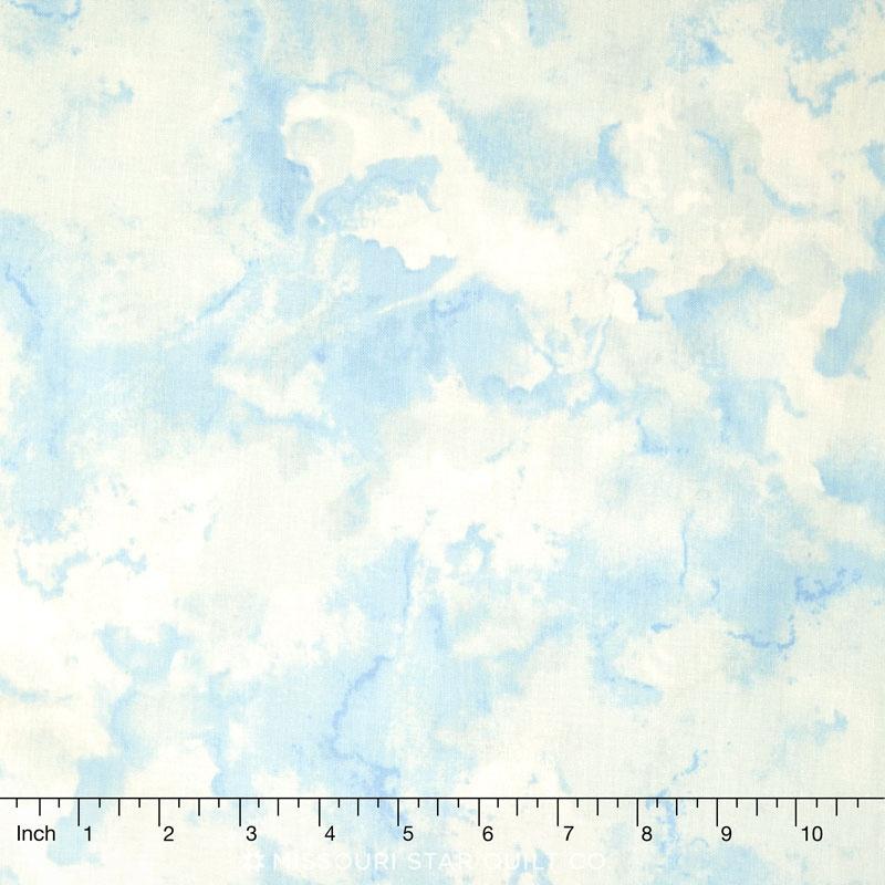 Rainbow Seeds - Texture Blue Yardage