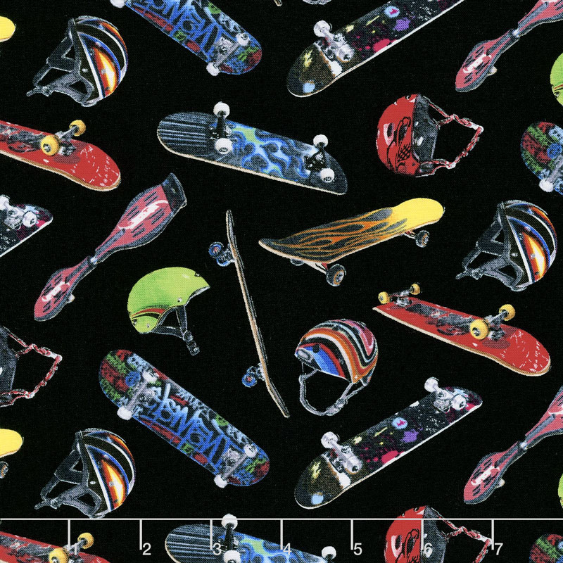 Sports - Skateboarding Black Yardage