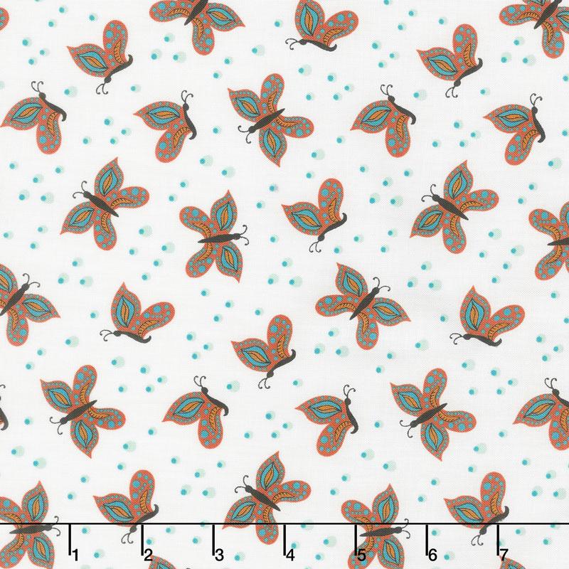 Gypsy - Butterfly Cream Yardage