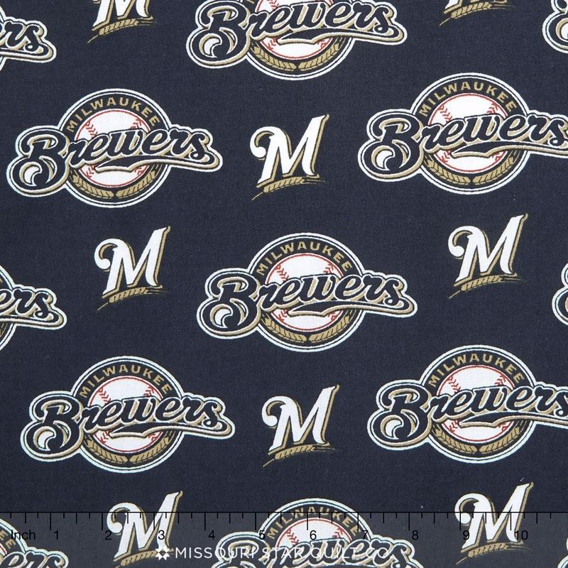 MLB Major League Baseball - Milwaukee Brewers Allover Yardage