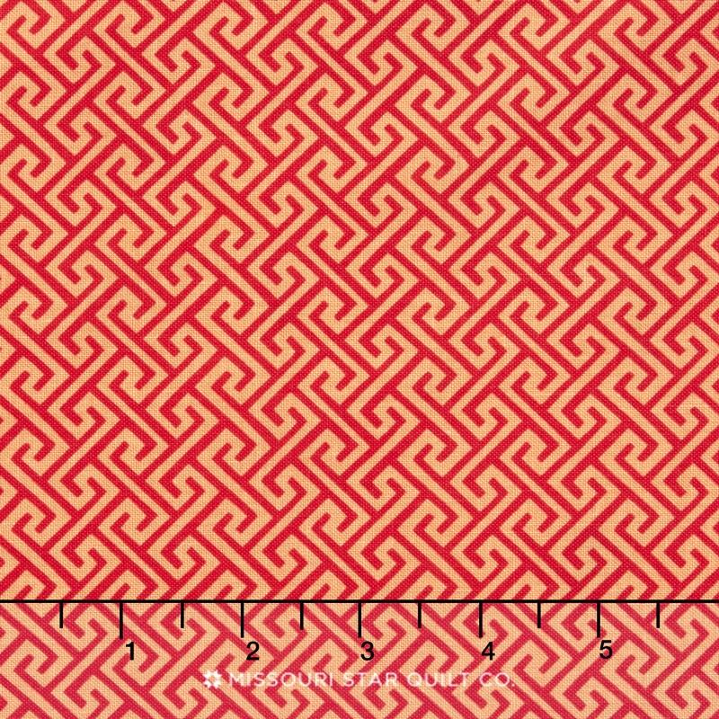 Sundance - Geometric Red Yardage