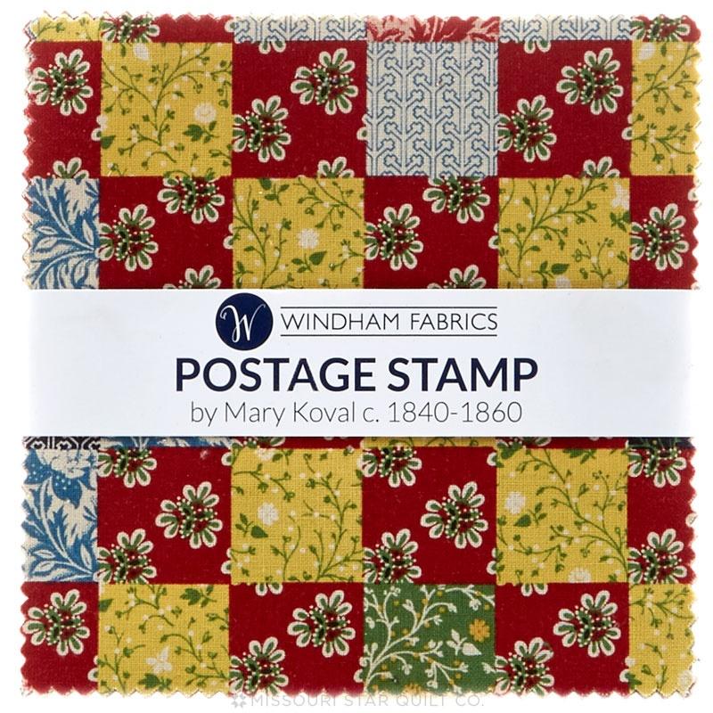 Postage Stamp C1840 1860 Charm Pack