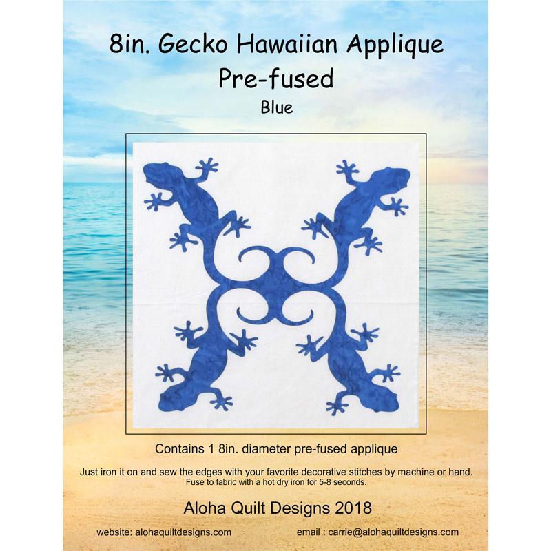 Gecko Blue Precut Fusible Appliqué Shape