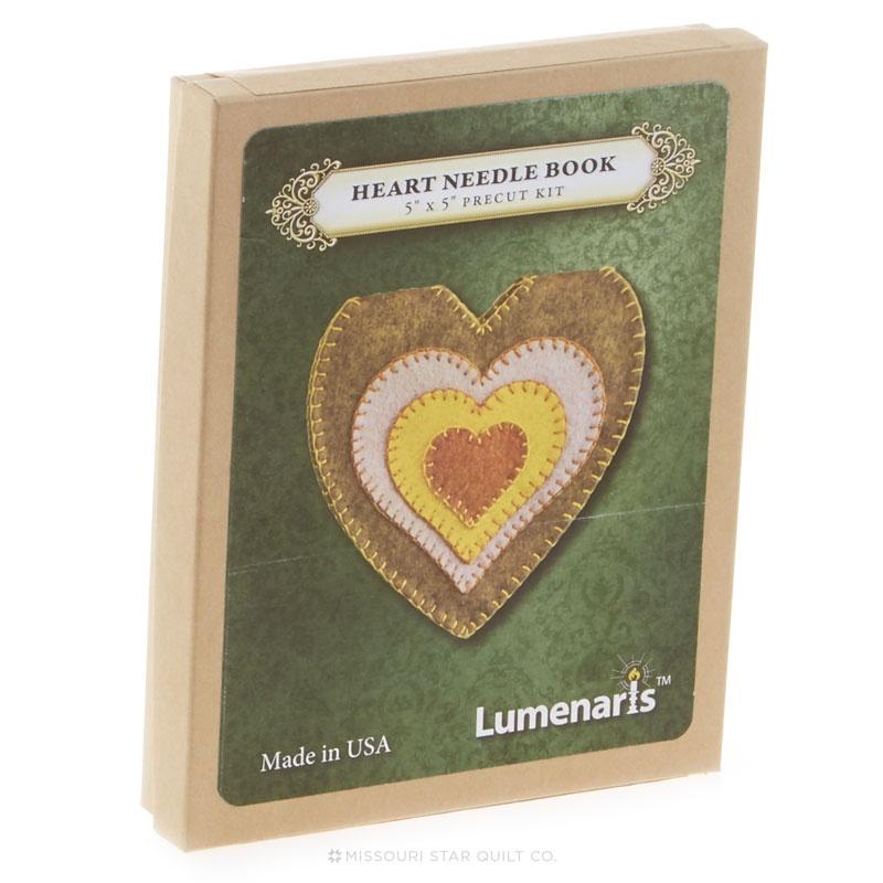 Heart Needle Book Kit Lt Green