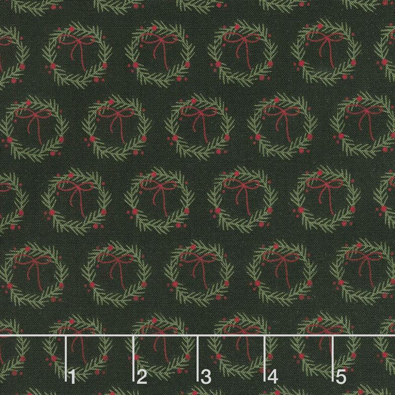 Winterberry - Wreaths Black Yardage