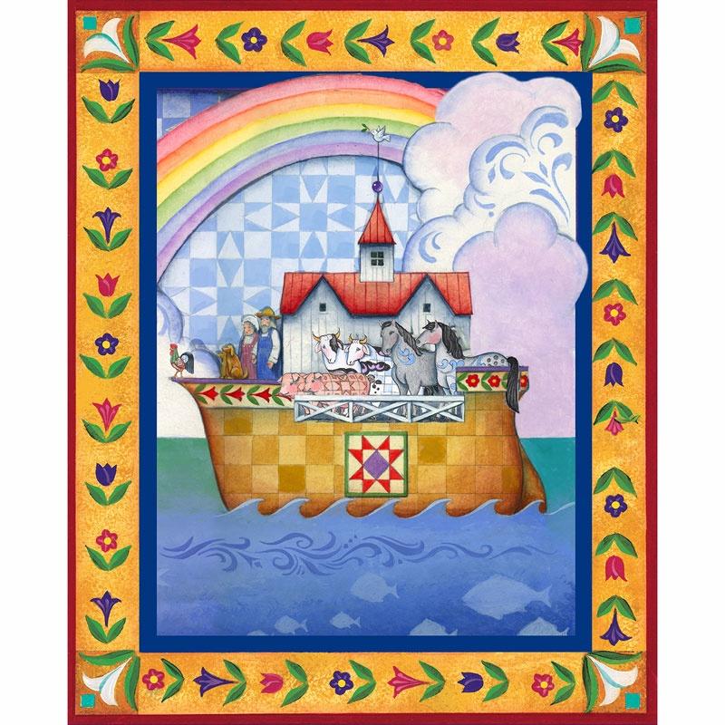 Jim Shore - Noah's Ark Multi Panel - Springs Creative Products ... : noahs ark quilt - Adamdwight.com
