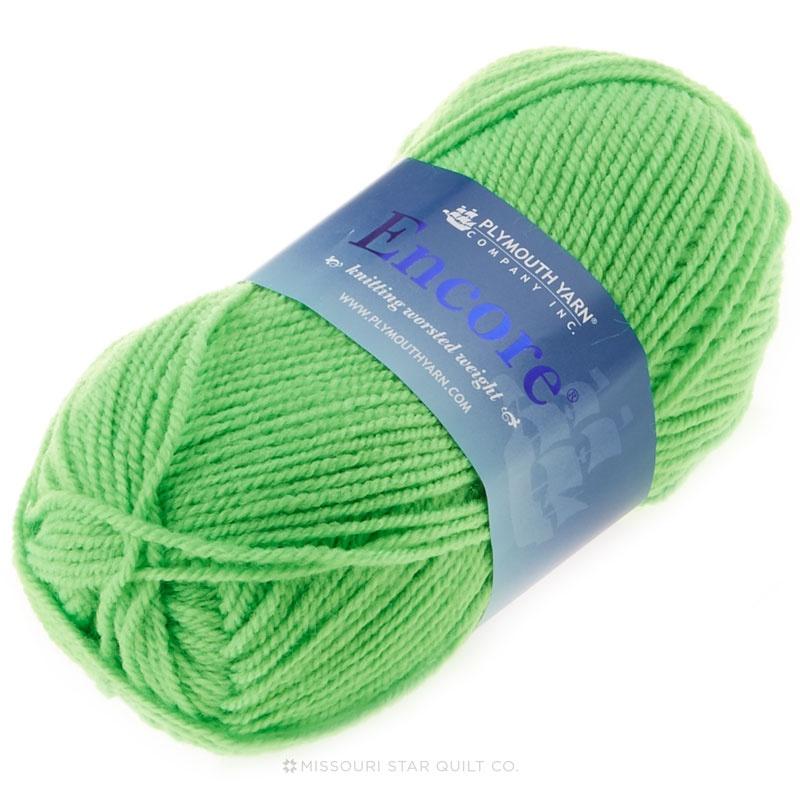 Encore Worsted Neon Green Yarn 100g