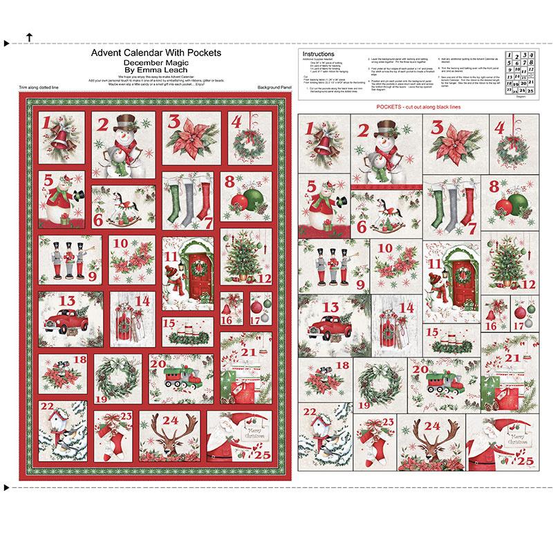 December Magic - Advent Calendar Ecru Panel