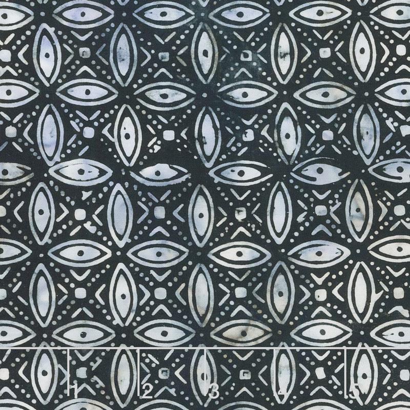 Calypso Batiks - Geometric Midnight Yardage