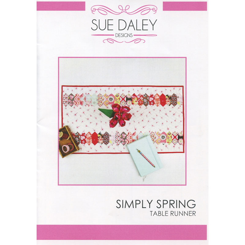 Sue Daley Simply Spring Table Runner Pattern