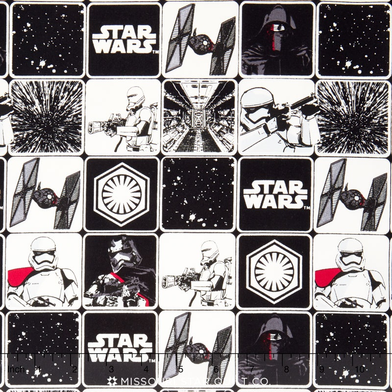 Star Wars - Grid Black Yardage