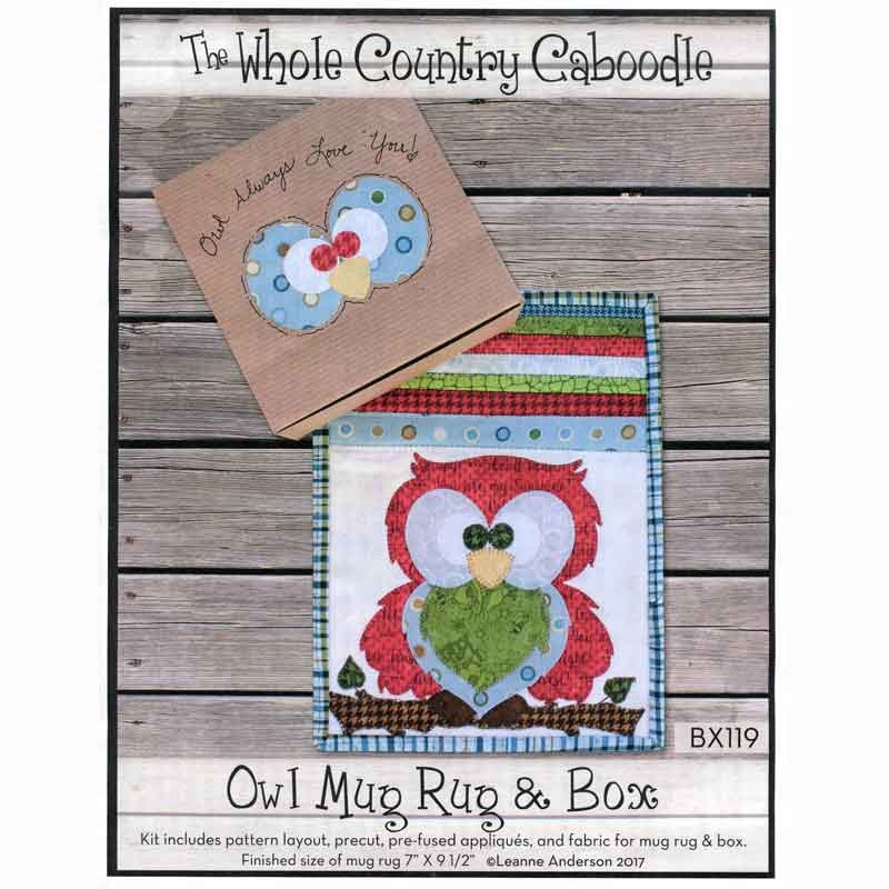Owl Mug Rug & Box Kit