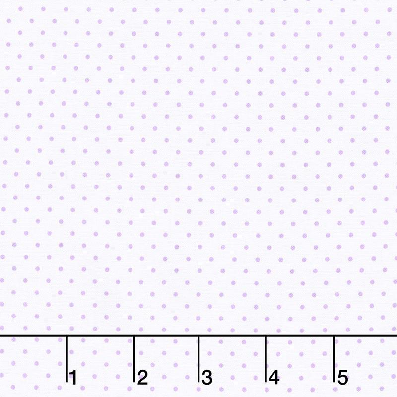 Swiss Dot - Swiss Dot Lavender on White Yardage