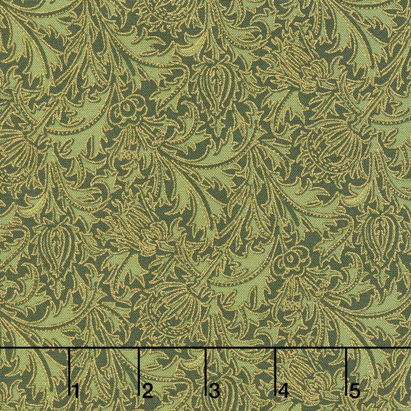 Morris Holiday 1897 - Thistle Pine Metallic Yardage