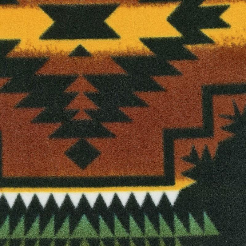 Winterfleece Prints Southwest - Windrunner Black Fleece Yardage
