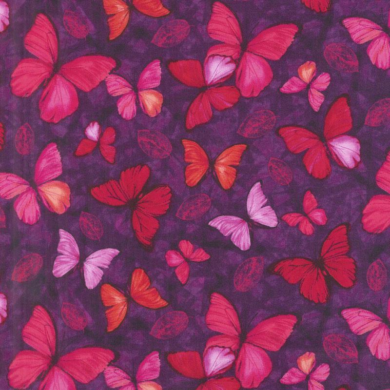 Viva Terra - Small Butterfly Mulberry Yardage