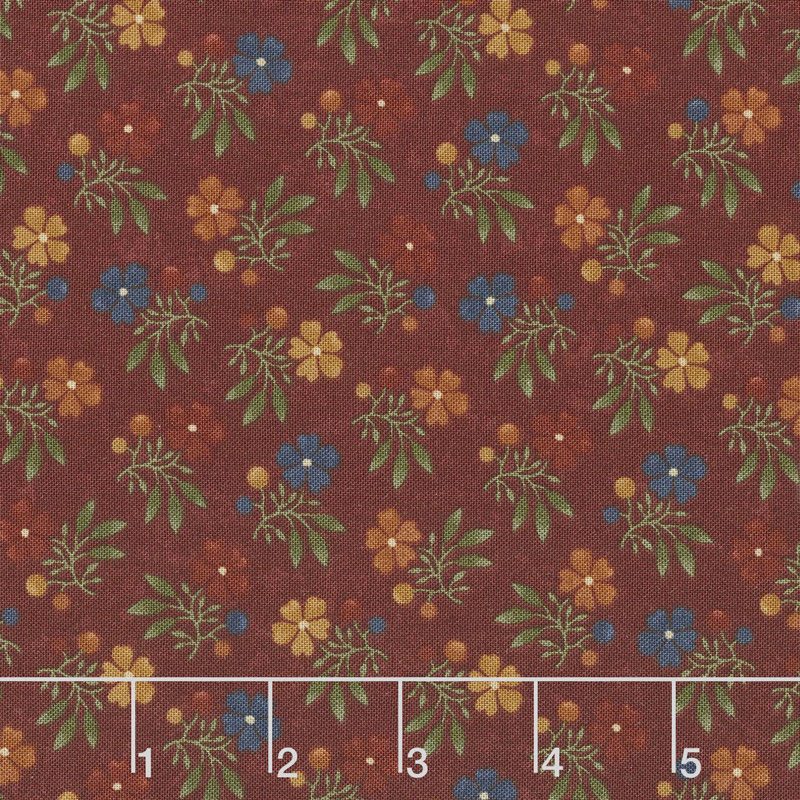 Nature's Glory - Fall Bouquet Red Yardage