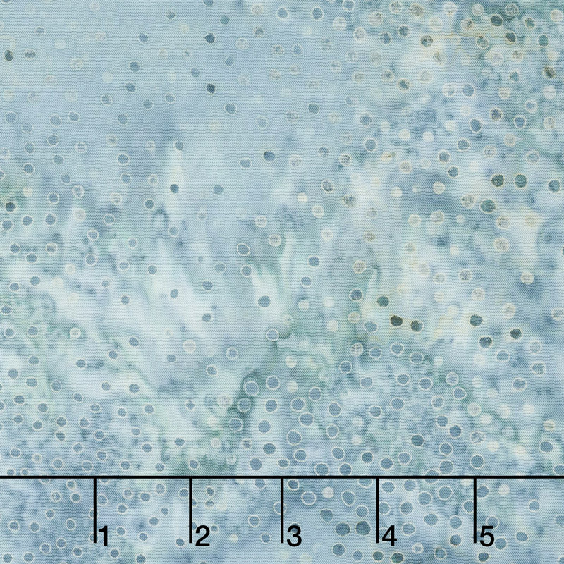 Baker's Dozen Batiks - Small Dots Light Blue Yardage