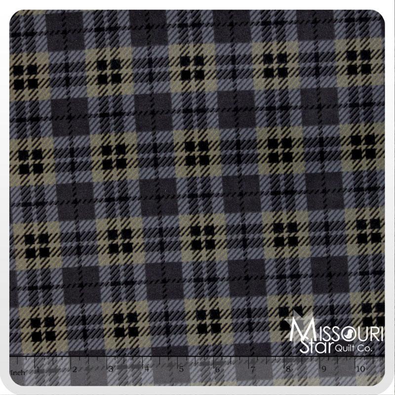Wool & Needle Flannels 2 - Black Yardage