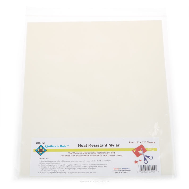 Heat Resistant Mylar Template Sheet 10\
